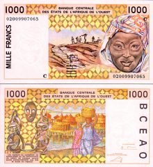 West African States 1000-2002Burkina